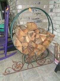 nice wood rack, have lots of firewood