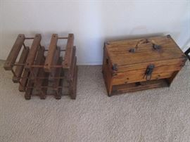 Small Tool Box and Storage Rack