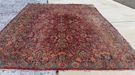 1925 sarouk rug from iran, we just had it professionally cleaned and it pops a lot more than this photo we took before cleaning... 8 1/2' x 12' ... priced to move. we'll try to load a new photo of its condition post cleaning