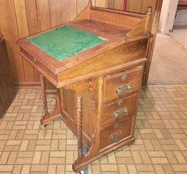 Antique captain's/Davenport desk