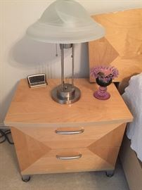 Nightstand, part of 8 piece bedroom furniture made in Italy