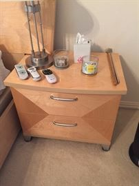 Nightstand part of 8 piece bedroom furniture made in Italy