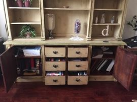 Huge 2 piece apothecary cabinet