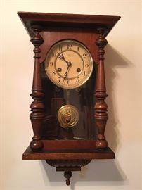Antique Wall Hanging Clock. Family Heritage Estate Sales, LLC. New Jersey Estate Sales/ Pennsylvania Estate Sales.