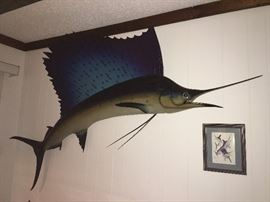Sailfish Fish Mount. Family Heritage Estate Sales, LLC. New Jersey Estate Sales/ Pennsylvania Estate Sales.