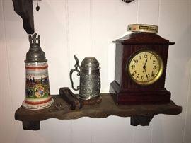 Beer Stein. Pewter Beer Stein. Clock. Family Heritage Estate Sales, LLC. New Jersey Estate Sales/ Pennsylvania Estate Sales