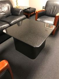 Granite Top Coffee Table with Matching End Table