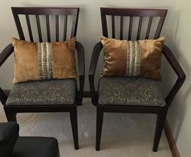 Side Chairs with Pillows