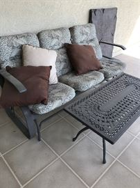Outdoor Glider and Table