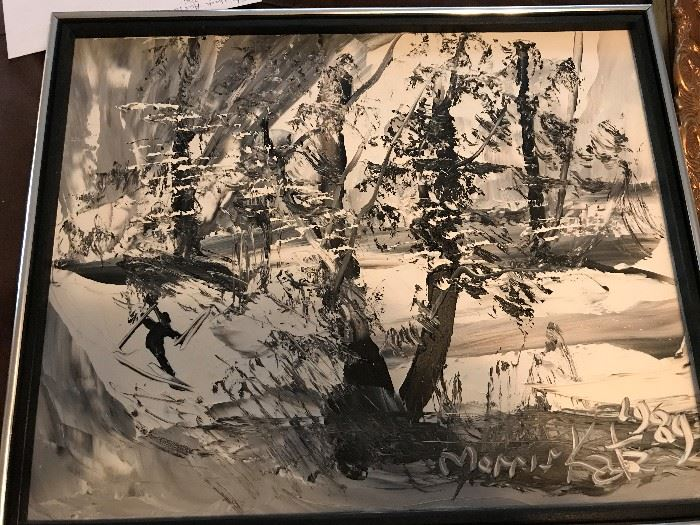 Listed Artist Morris Katz Oil on Board
