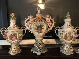One of the Nicest Dresden German Porcelain Sets I Have Ever Seen
