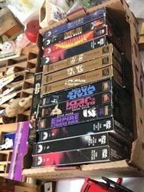 Star Wars and Star Trek collectibles (VHS)