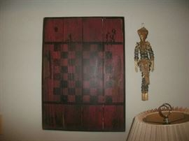 Old Wood Checker Board