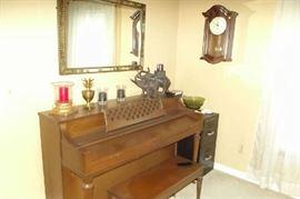 Beautiful upright piano.