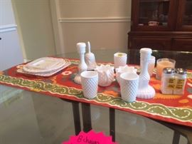Grandmother's Milk glass collection