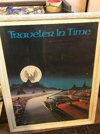 """Vintage Trans Am Poster- """"Traveler In Time"""""""