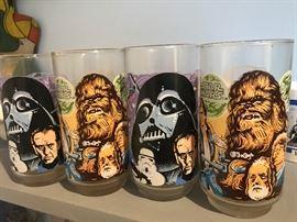 Vintage Star Wars glasses