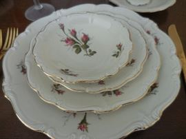 Vintage Rosenthal Germany Moss Rose. 12 Piece Place setting.No service