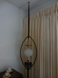 Mid Century Eagle Teak Pole Lamp