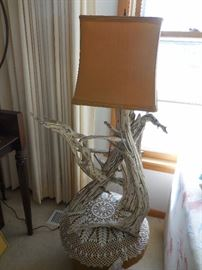 Mid Century Driftwood Table Lamp