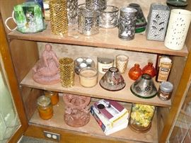 candle holders and decor items
