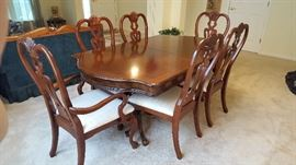 Cherry Dining Set with 2 leaves