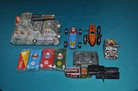 Vintage tin toys.