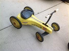 Vintage child's race car