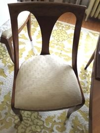 Set of matching chairs From midcentury modern table