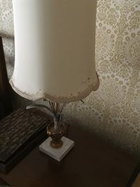 Marble and iron lamp