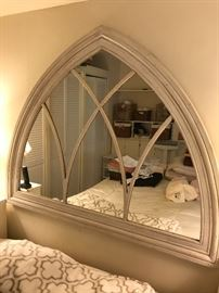 STUNNING ANTIQUE WINDOW FRAME REPURPOSED AS MIRROR