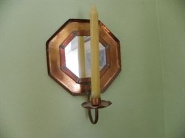 Hand hammered made copper sconce.,from Art in Hand.