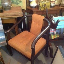 One of a pair of Chinese chairs