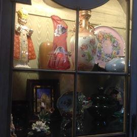 Goebel Infant of Prague, Murano glass, Bohemia flower, antique porcelain