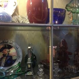 Pottery, crystal, gass