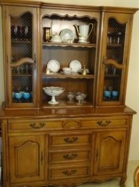 French Provincial/French Country Fancher china cabinet (part of dining room suite).
