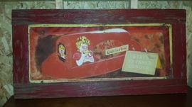 Antique Metal Bread Sign Framed