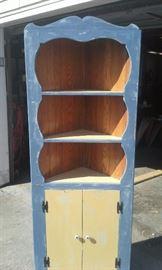 Upscaled Vintage Corner Cabinet