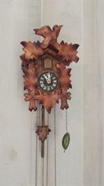 Vintage German Cuckoo Clock, Works!