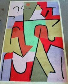 Danish Ege wool rug, Paul Klee design