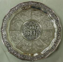 Asian sterling silver trophy
