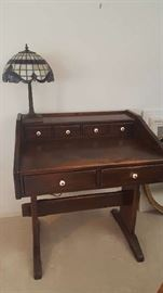 $75   Writing desk, now $37.50, lamp sold