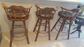 Swivel bar stools (3)   $75