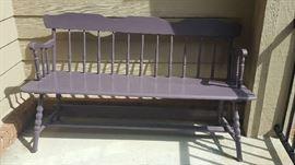 Purple bench   $40
