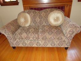 Arhaus loveseat couch