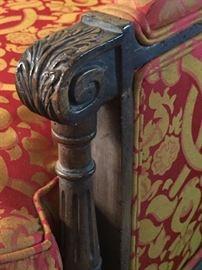 red sofa detail
