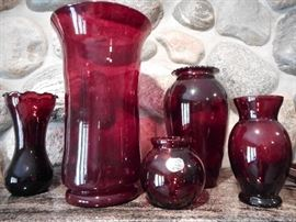 RUBY RED GLASS
