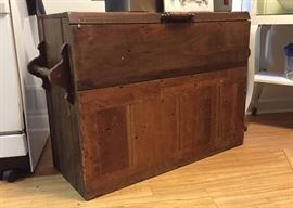 Old wooden organ container