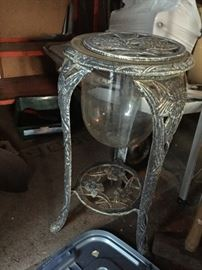 Unusual Fish bowl... plant stand