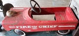 Fire Chief peddle car